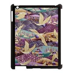 Textile Fabric Cloth Pattern Apple Ipad 3/4 Case (black) by Celenk