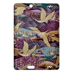 Textile Fabric Cloth Pattern Amazon Kindle Fire Hd (2013) Hardshell Case by Celenk
