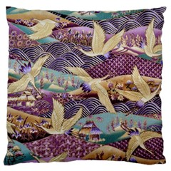 Textile Fabric Cloth Pattern Large Flano Cushion Case (one Side) by Celenk