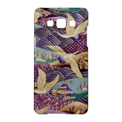 Textile Fabric Cloth Pattern Samsung Galaxy A5 Hardshell Case  by Celenk