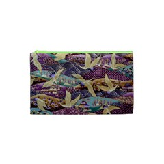Textile Fabric Cloth Pattern Cosmetic Bag (xs) by Celenk