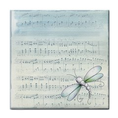 Vintage Blue Music Notes Tile Coasters by Celenk