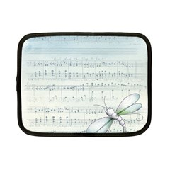 Vintage Blue Music Notes Netbook Case (small)  by Celenk