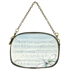 Vintage Blue Music Notes Chain Purses (one Side)  by Celenk