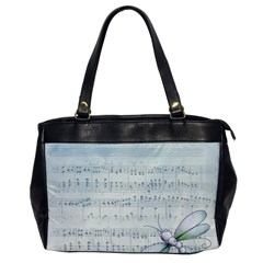 Vintage Blue Music Notes Office Handbags by Celenk