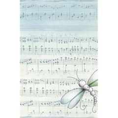 Vintage Blue Music Notes 5 5  X 8 5  Notebooks by Celenk