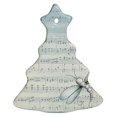 Vintage Blue Music Notes Ornament (christmas Tree)  by Celenk