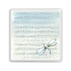 Vintage Blue Music Notes Memory Card Reader (square)  by Celenk