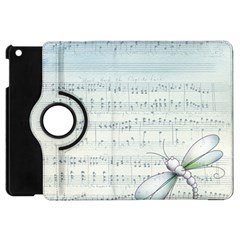 Vintage Blue Music Notes Apple Ipad Mini Flip 360 Case by Celenk