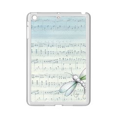 Vintage Blue Music Notes Ipad Mini 2 Enamel Coated Cases by Celenk