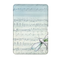 Vintage Blue Music Notes Samsung Galaxy Tab 2 (10 1 ) P5100 Hardshell Case  by Celenk