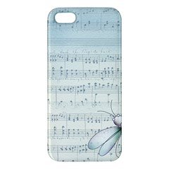 Vintage Blue Music Notes Iphone 5s/ Se Premium Hardshell Case by Celenk