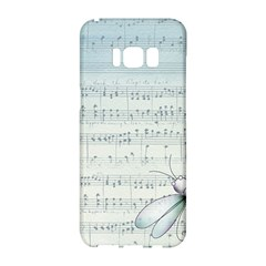 Vintage Blue Music Notes Samsung Galaxy S8 Hardshell Case  by Celenk