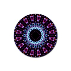 Kaleidoscope Shape Abstract Design Rubber Coaster (round)  by Celenk