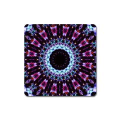 Kaleidoscope Shape Abstract Design Square Magnet by Celenk