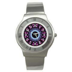Kaleidoscope Shape Abstract Design Stainless Steel Watch by Celenk