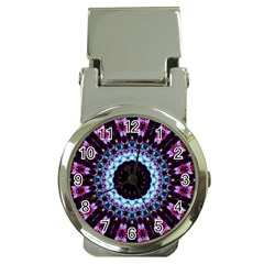 Kaleidoscope Shape Abstract Design Money Clip Watches by Celenk