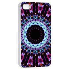 Kaleidoscope Shape Abstract Design Apple Iphone 4/4s Seamless Case (white) by Celenk