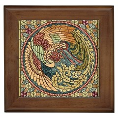 Wings Feathers Cubism Mosaic Framed Tiles by Celenk