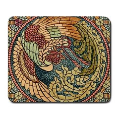 Wings Feathers Cubism Mosaic Large Mousepads by Celenk
