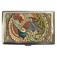 Wings Feathers Cubism Mosaic Cigarette Money Cases by Celenk