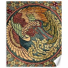 Wings Feathers Cubism Mosaic Canvas 8  X 10  by Celenk
