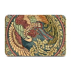 Wings Feathers Cubism Mosaic Plate Mats by Celenk