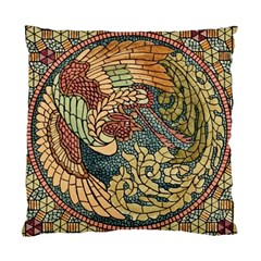 Wings Feathers Cubism Mosaic Standard Cushion Case (one Side) by Celenk