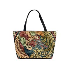 Wings Feathers Cubism Mosaic Shoulder Handbags by Celenk