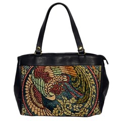 Wings Feathers Cubism Mosaic Office Handbags by Celenk