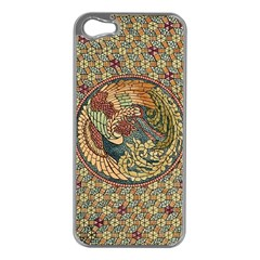 Wings Feathers Cubism Mosaic Apple Iphone 5 Case (silver) by Celenk