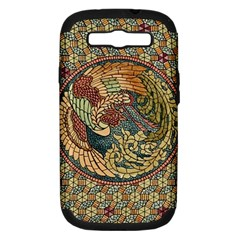 Wings Feathers Cubism Mosaic Samsung Galaxy S Iii Hardshell Case (pc+silicone) by Celenk