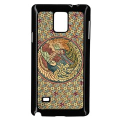 Wings Feathers Cubism Mosaic Samsung Galaxy Note 4 Case (black) by Celenk