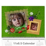 Berry Much/Love Family - Photo Calendar (12 months) - Wall Calendar 11  x 8.5  (12-Months)