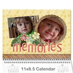Flowers/Family/Love-Photo Calendar (12 months) - Wall Calendar 11  x 8.5  (12-Months)