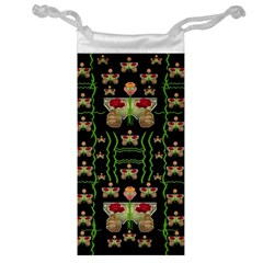 Roses In The Soft Hands Makes A Smile Pop Art Jewelry Bag by pepitasart