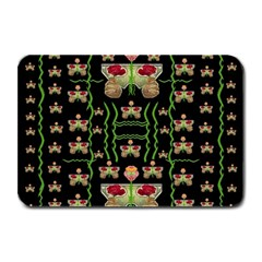 Roses In The Soft Hands Makes A Smile Pop Art Plate Mats by pepitasart