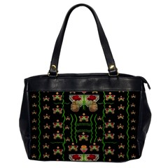Roses In The Soft Hands Makes A Smile Pop Art Office Handbags by pepitasart