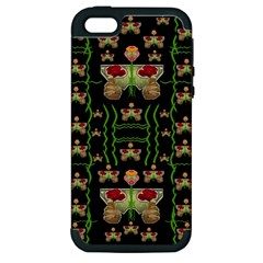 Roses In The Soft Hands Makes A Smile Pop Art Apple Iphone 5 Hardshell Case (pc+silicone) by pepitasart