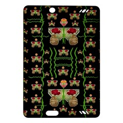Roses In The Soft Hands Makes A Smile Pop Art Amazon Kindle Fire Hd (2013) Hardshell Case by pepitasart