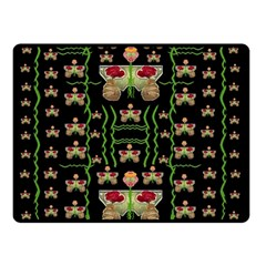 Roses In The Soft Hands Makes A Smile Pop Art Double Sided Fleece Blanket (small)  by pepitasart