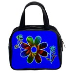 abstract flower in blue - Classic Handbag (Two Sides)