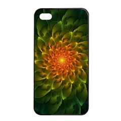 Beautiful Orange Green Desert Cactus Fractalspiral Apple Iphone 4/4s Seamless Case (black) by beautifulfractals