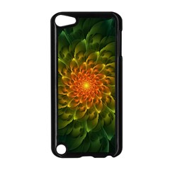 Beautiful Orange Green Desert Cactus Fractalspiral Apple Ipod Touch 5 Case (black) by beautifulfractals