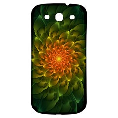Beautiful Orange Green Desert Cactus Fractalspiral Samsung Galaxy S3 S Iii Classic Hardshell Back Case by beautifulfractals