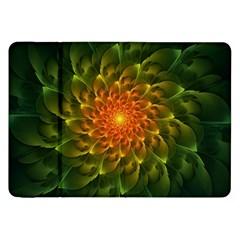 Beautiful Orange Green Desert Cactus Fractalspiral Samsung Galaxy Tab 8 9  P7300 Flip Case by jayaprime