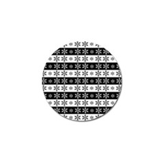 Snowflakes   Christmas Pattern Golf Ball Marker (10 Pack) by Valentinaart