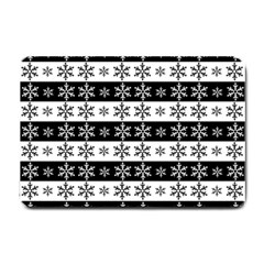Snowflakes   Christmas Pattern Small Doormat