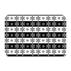 Snowflakes   Christmas Pattern Plate Mats by Valentinaart