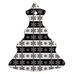 Snowflakes   Christmas Pattern Christmas Tree Ornament (two Sides) by Valentinaart